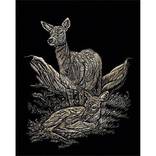 """Гравюра Royal&Langnickel """"Оленята"""", золото от Royal&Langnickel"""