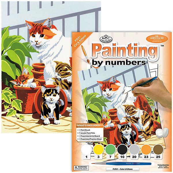 "Картина по номерам Royal&Langnickel ""Кошка с котятами"", 22х29 см"