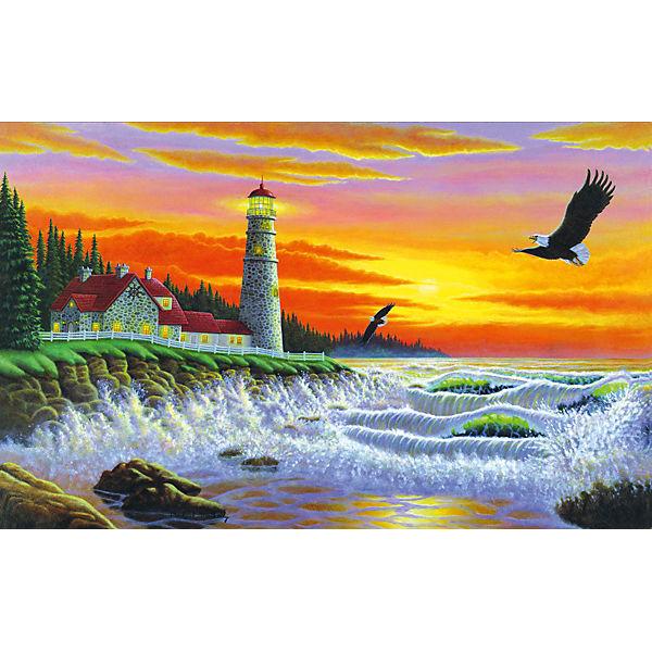 "Картина по номерам Royal&Langnickel ""Маяк на закате"", 28,5х35 см"