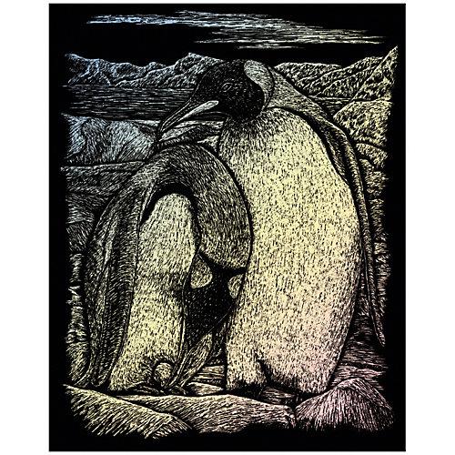 """Гравюра Royal&Langnickel """"Императорские пингвины"""", голографическая от Royal&Langnickel"""