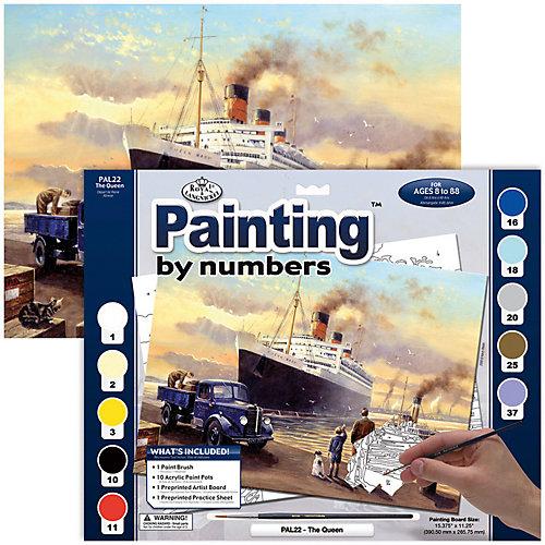 """Картина по номерам Royal&Langnickel """"Отплытие королевы"""", 28,5х35 см от Royal&Langnickel"""