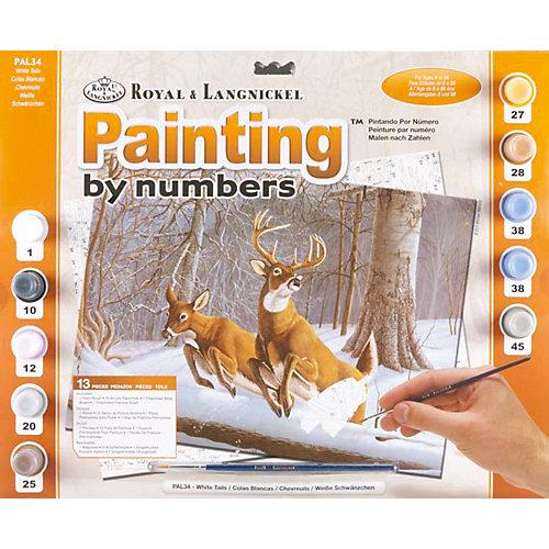 """Картина по номерам Royal&Langnickel """"Белохвостые олени"""", 28,5х35 см от Royal&Langnickel"""