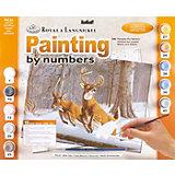 """Картина по номерам Royal&Langnickel """"Белохвостые олени"""", 28,5х35 см"""