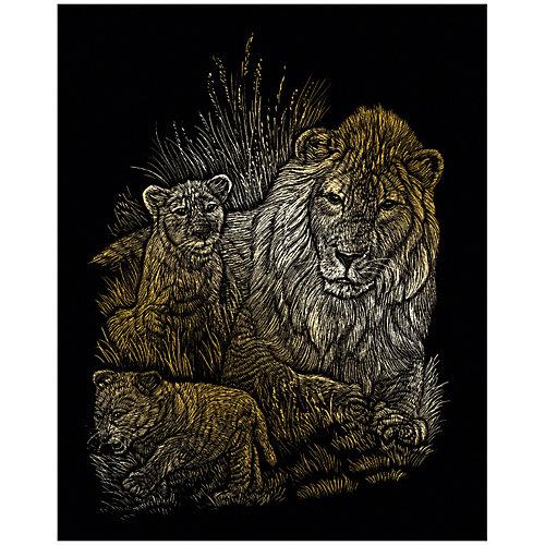 """Гравюра Royal&Langnickel """"Львы"""", золото от Royal&Langnickel"""