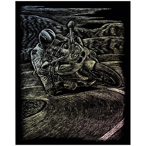 """Гравюра Royal&Langnickel """"Мотогонки"""", голографическая от Royal&Langnickel"""