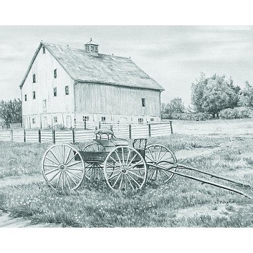 "Картина-эскиз по номерам карандашами Royal&Langnickel ""За городом"", 22х29 см от Royal&Langnickel"