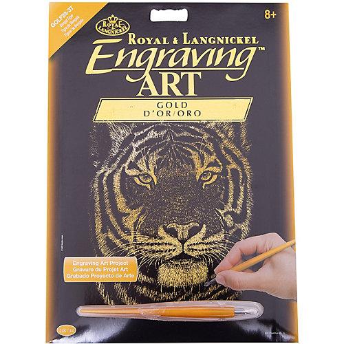 """Гравюра Royal&Langnickel """"Бенгальский тигр"""", золото от Royal&Langnickel"""