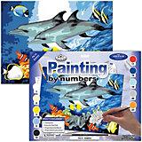 """Картина по номерам Royal&Langnickel """"Дельфины"""", 28,5х35 см"""