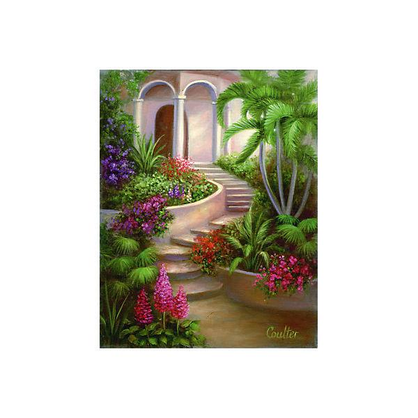 """Картина по номерам на холсте Гризайль Royal&Langnickel """"Испанский садик"""", 28х35 см"""
