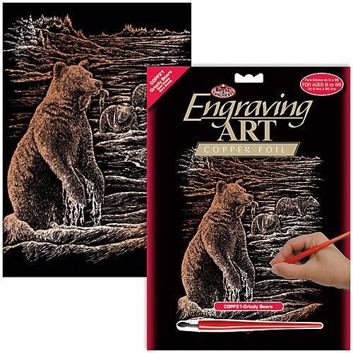 """Гравюра Royal&Langnickel """"Медведь Гризли"""", медь от Royal&Langnickel"""