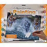 "Картина по номерам Royal&Langnickel ""Три тигра"", 28,5х35 см"