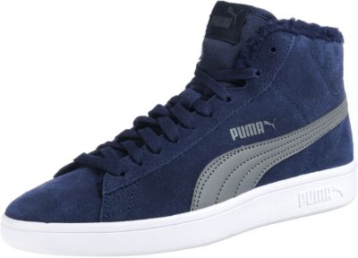 Kinder Sneakers High Puma Smash v2 Mid Fur Jr für Jungen, PUMA