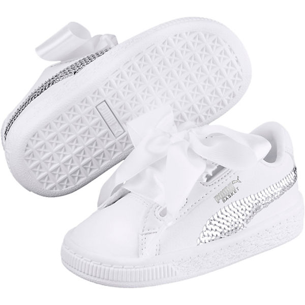 Sneakers Low Basket Heart Bling PS für Mädchen
