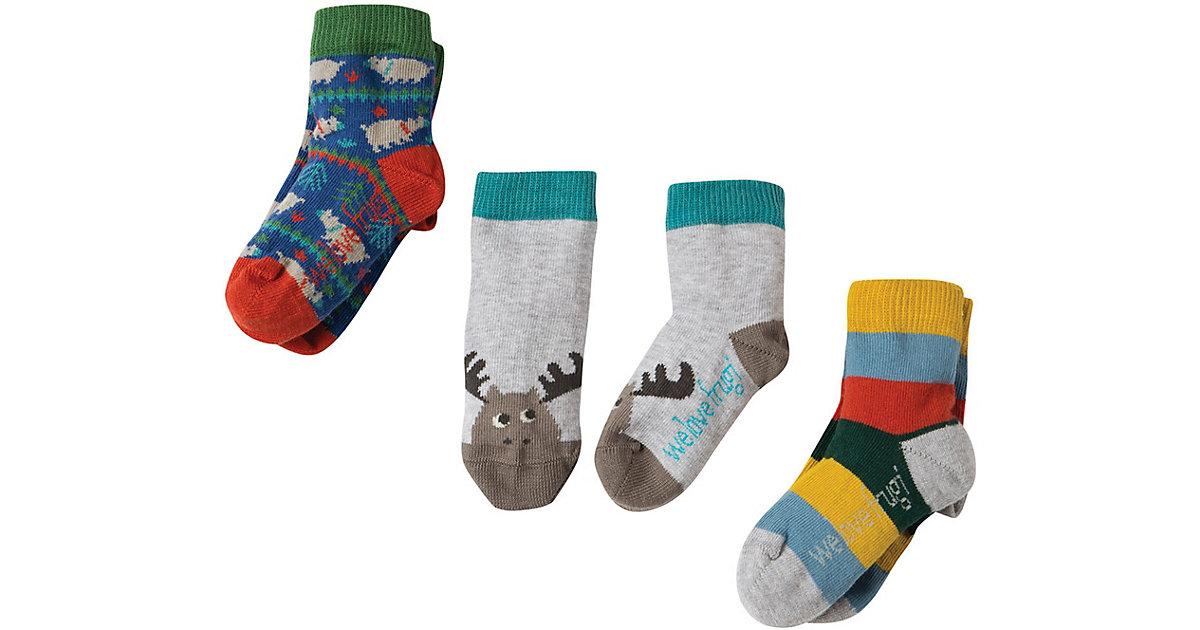 Frugi · Baby Socken 3er Pack , Organic Cotton Gr. 19-22 Jungen Kleinkinder