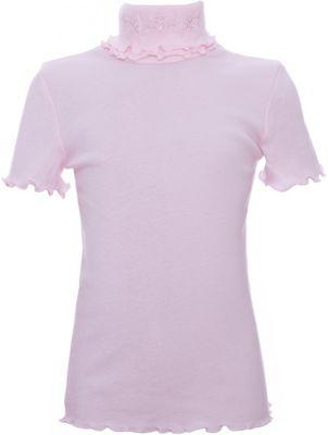 Водолазка Белый снег для девочки - розовый