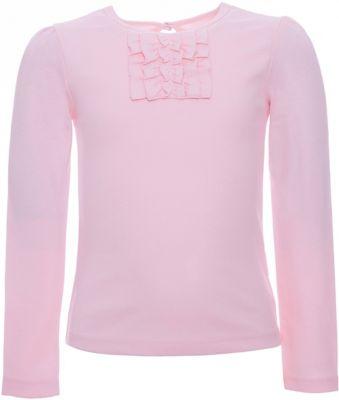 Футболка с длинным рукавом Белый снег для девочки - розовый