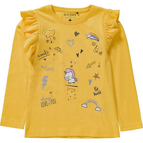 Blue Seven Langarmshirt , Einhorn Gr. 122 Mädchen Kinder   04055852206182