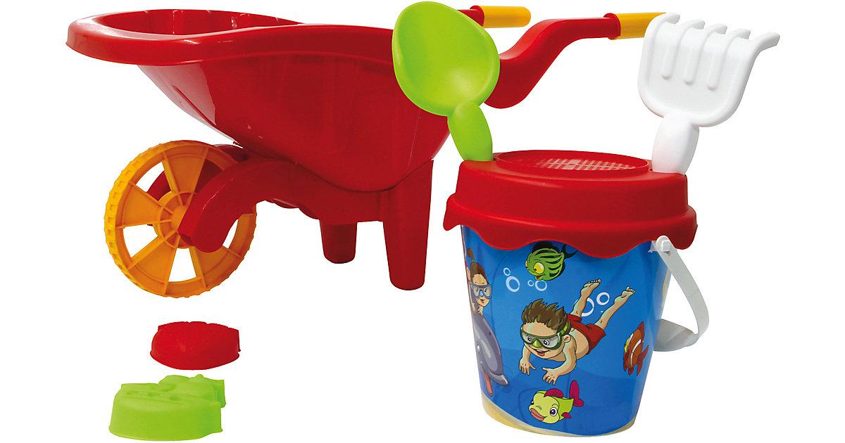 Sandkastenset mit Schubkarre 6-teilig rot | Kinderzimmer > Spielzeuge > Sandkästen | Jamara