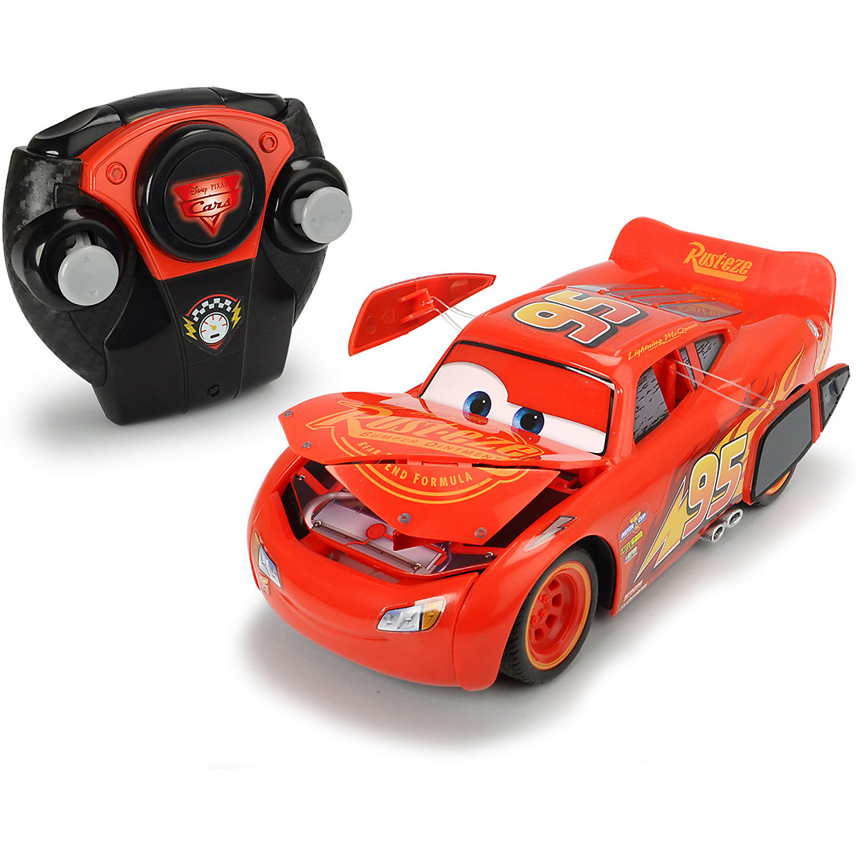 rc cars 3 lightning mcqueen crazy crash disney cars mytoys. Black Bedroom Furniture Sets. Home Design Ideas