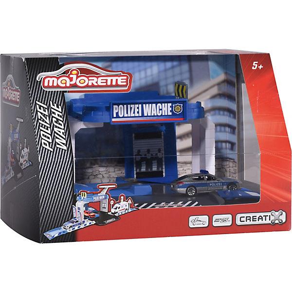 Creatix Polizei Wache + 1 1 1 Auto, Majorette e2fb10