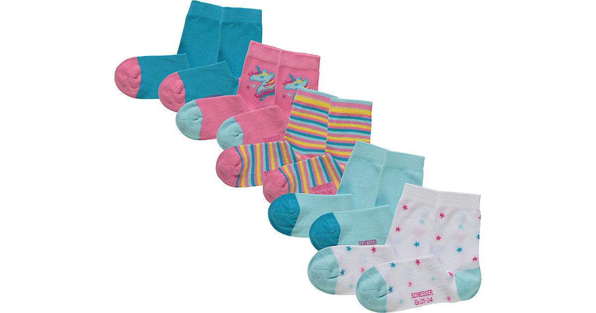 Schiesser · Socken 5er-Pack Gr. 23-26 Mädchen Kleinkinder