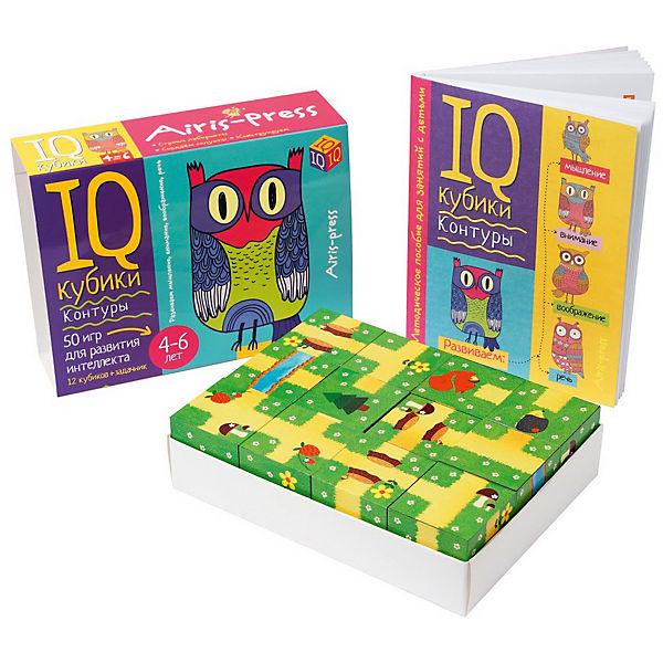 """Умные кубики """"50 игр для развития интеллекта"""" Контуры"""