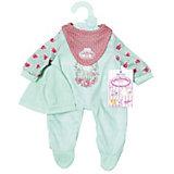 Одежда для куклы  my first Baby Annabell мятного цвета , 36 см