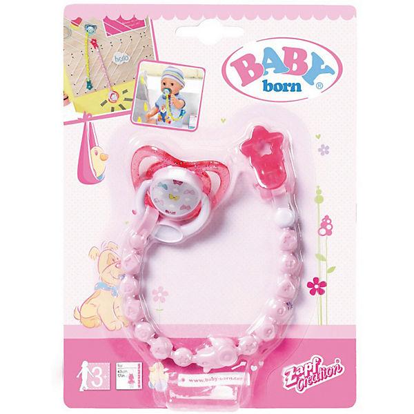 Соска с цепочкой BABY born, розовая