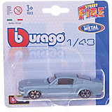"""Коллекционная машинка Bburago """"Ford Mustang GT"""" 1:43, синяя"""