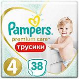 Трусики Pampers Premium Care 9-15 кг, Размер 4, 38  шт.