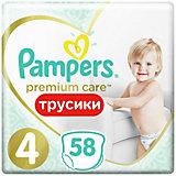 Трусики Pampers Premium Care 9-15 кг, размер 4, 58шт.