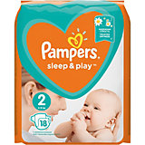 Подгузники Pampers Sleep & Play 4-8 кг, 2 размер, 18 шт.
