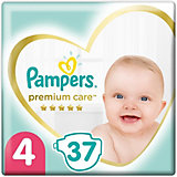 Подгузники Pampers Premium Care 9-14  кг, размер 4, 37 шт.
