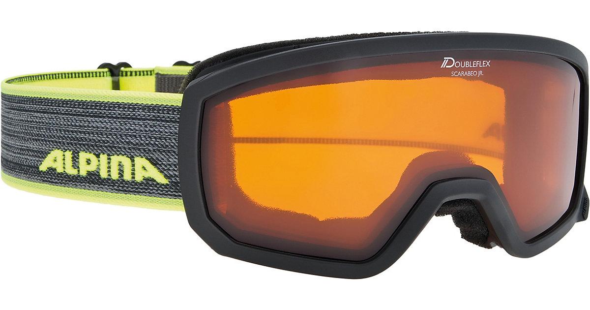 Skibrille Scarabeo Jr. black-neon schwarz