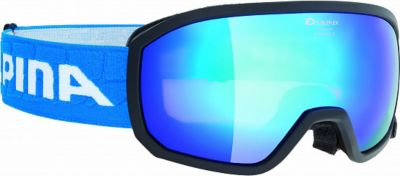 "Горнолыжные очки Alpina ""SCARABEO JR. MM black MM blue sph. S3/MM blue sph. S3"""