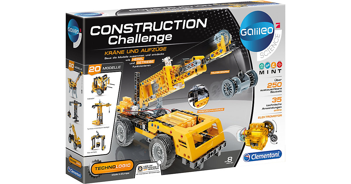 Clementoni · Galileo - Construction Challenge - Kräne & Aufzüge
