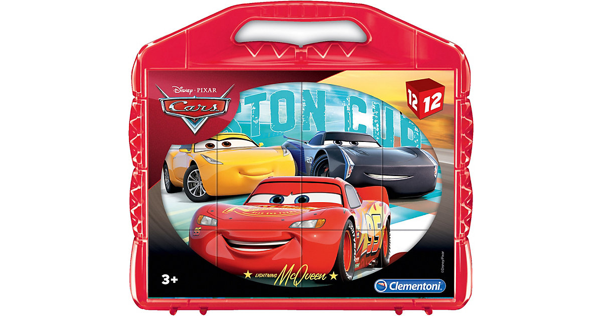 Würfelpuzzle 12 Teile - Cars