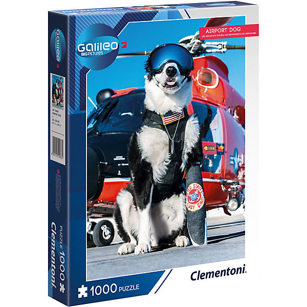 Galileo Big Picture Puzzle 1000 Teile - Airport Dog, Galileo