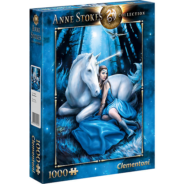 Puzzle 1000 Teile - Anne Stokes - Blau Moon, Clementoni