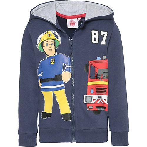 Feuerwehrmann Sam Sweatjacke Gr. 128/134 Jungen Kinder | 04060617037437