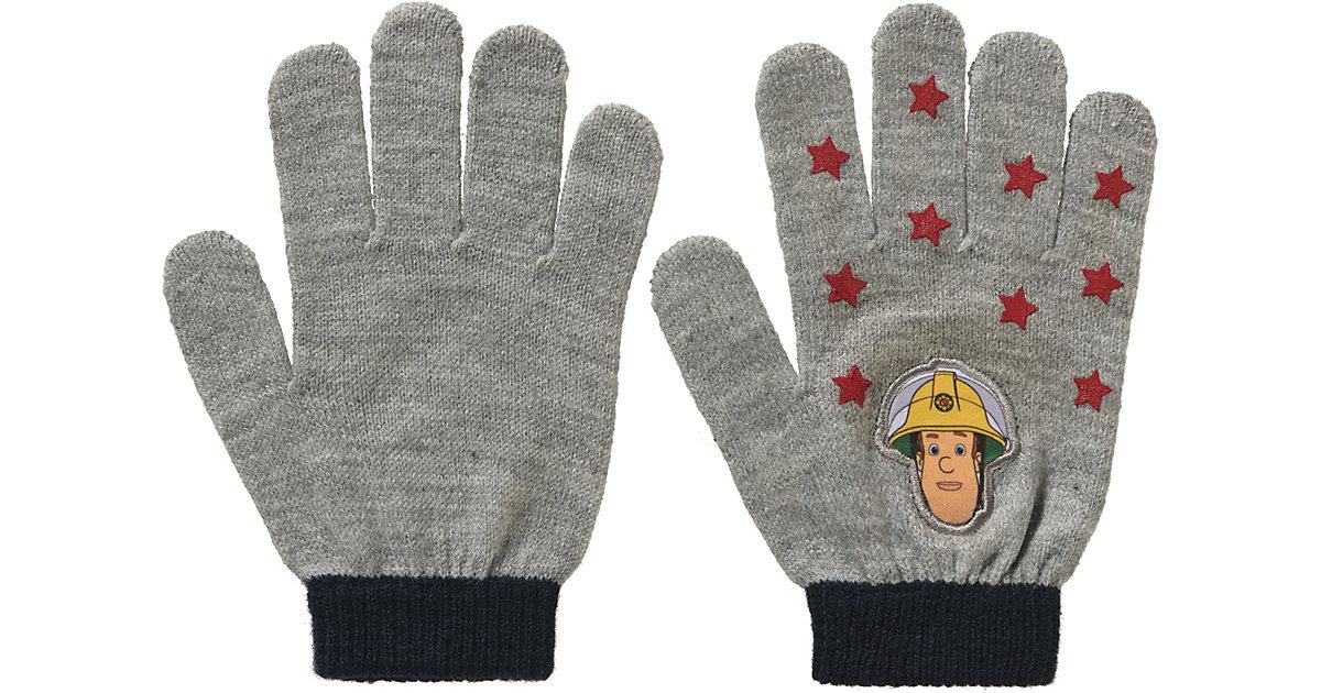Feuerwehrmann Sam Fingerhandschuhe  grau Gr. 6 Jungen Kinder