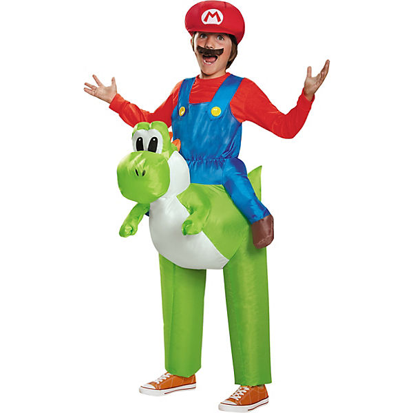Kostüm Mario Riding Yoshi inflateable Child