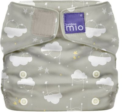 Miosolo All-in-One Windel, Wolken Sieben, grau/weiss weiß/grau