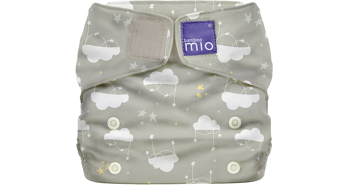 Bambino Mio · Miosolo All-in-One Windel, Wolken Sieben, grau/weiss