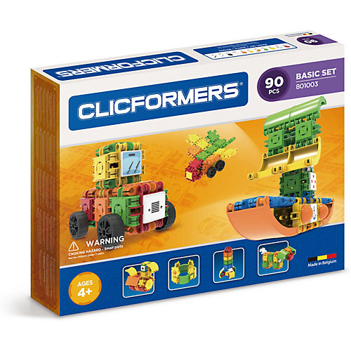 Конструктор CLICFORMERS  Basic Set 90 деталей от Clicformers