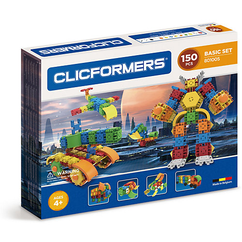 Конструктор CLICFORMERS  Basic Set 150 деталей от Clicformers