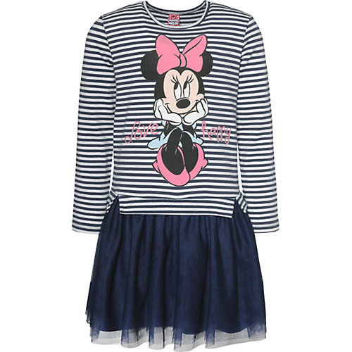 Disney Minnie Mouse Kinder Jerseykleid mit Tüllrock Gr. 92/98 Mädchen Kleinkinder | 04022158457495