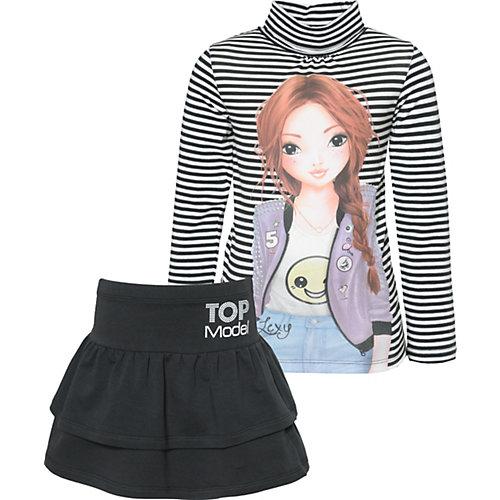 TOPModel Set Langarmshirt + Sweatrock Gr. 152/158 Mädchen Kinder   04022158460006