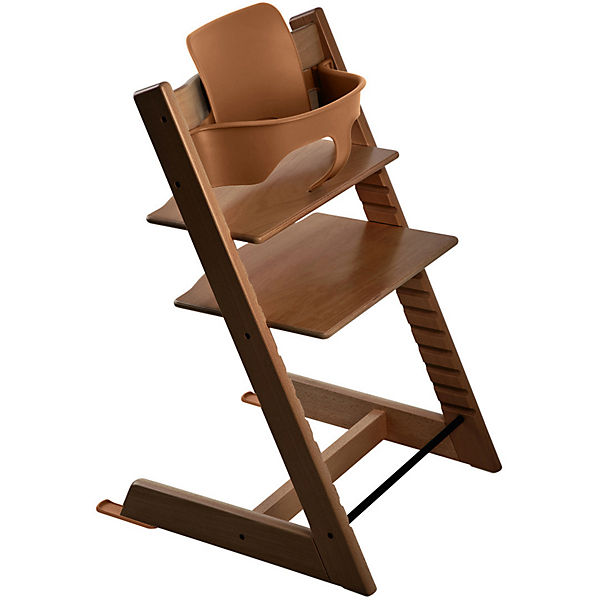 Tripp Trapp® Hochstuhl, Classic Collection, inkl. BABY SET™, Walnut Brown