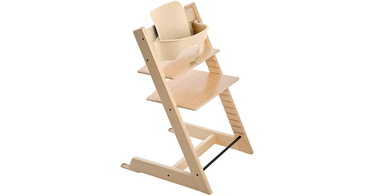 Stokke · Tripp Trapp® Hochstuhl, Classic Collection, inkl. BABY SET™, Natural